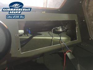 изготовление алюминиевой лодки Самурай с транцем под два мотора Yamaha