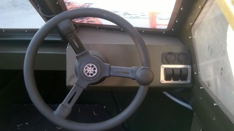 Рулевая консоль для алюминиевой лодки